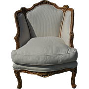 Antique French Regence Style Bergere Chair