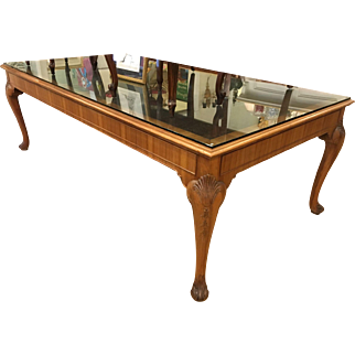Spectacular Huge Antique English Writing or Library Table
