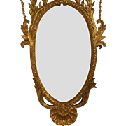 Huge Hand Carved Italian Regency Style Gilt-wood Mirror