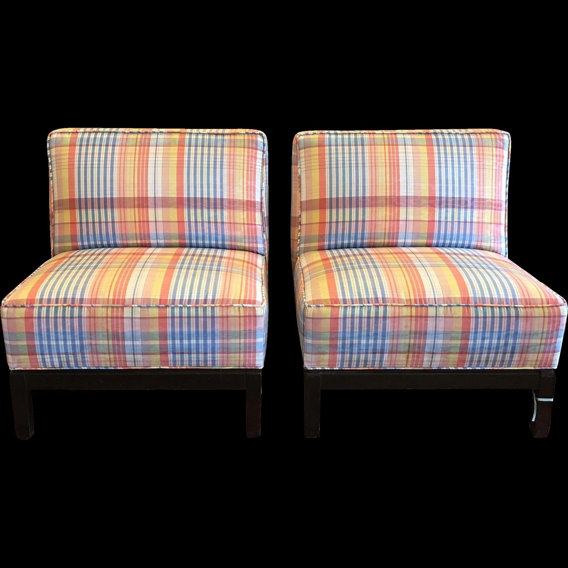 Exquisite Pair of PROSPR Art Deco Designer Slipper Chairs