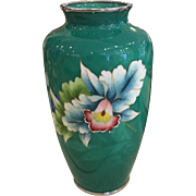 Unusual Antique Japanese Meiji Cloisonné Vase