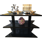Exquisite Nancy Corzine Designer Black 3 Tier Side Table