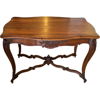 Unusual Antique French Provincial Center or Writing Table