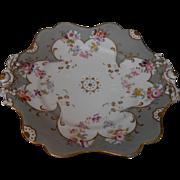 Antique 18C Hand Painted Porcelain Tray Honi Soit Qui Mal y Pense