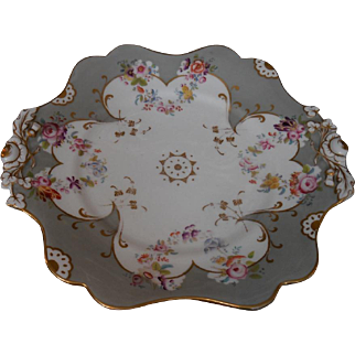 Antique 18C Hand Painted Porcelain Tray Honi Soit Qui Mal y Pense