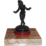 Superb Antique French Bronze Sculpture of a Court Jester