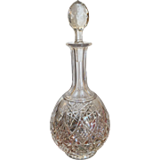 Signed Baccarat Fancy Cut Crystal Decanter Lagny MINT
