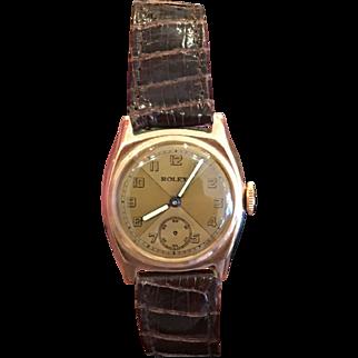 Exquisite Vintage 9k Solid Gold Ladies / Boys Rolex Watch w Rolex Band