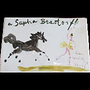 Rare Original Sascha Brastoff Plaque by Marcel VERTES from Artist's Collection