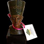 Rare Antique Vienna Bronze Bust Sculpture of Nefertiti Berlin