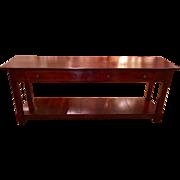 Antique Designs of Santa Monica Designer Cherry Rustic Sofa or Console Table