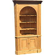 Huge Antique English Pine Corner Cabinet
