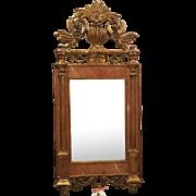 Superb Antique Sienna Marble & Gilt-wood Mirror