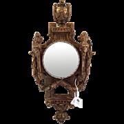 Thomas Morgan Gold Leaf Clock Face Convex Mirror