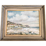 Unusual African Beach Scene Seascape Oil Painting by Ray Nestor