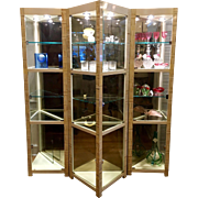 Baker Furniture Company Triple Triangle Vitrine Showcase by Alessandro