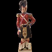 Unusual Antique Capodimonte Porcelain Soldier Figurine