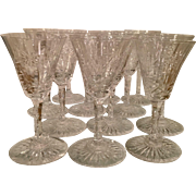 Set Of 12 Antique Pairpoint Crystal Port Wine Cocktail Stems
