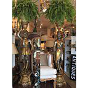 Pair of Huge Venetian Gilt-wood Designer Blackamoor Plant Stands / Lamps