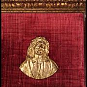 Antique Gilt Bronze Religious Frieze Sculpture of Jesus