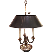 Exquisite Vintage Silver Plated Bouillotte Table Lamp