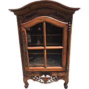 Small Antique 18C Italian Country Cupboard Cabinet
