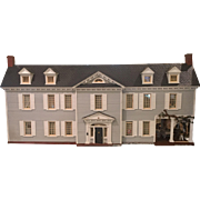 Massive Antique American Mansion Doll House w Furnishings Signed & Dated c.1909