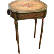 Antique French Painted Poudreuse Table