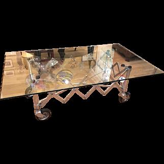 Modern Industrial Chic Aluminum Gurney Coffee Table