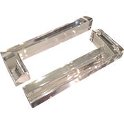 Pair of Art Deco Baccarat Crystal L Shaped Paperweights