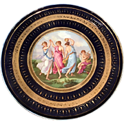 Rare Antique Royal Vienna Porcelain Scenic Charger