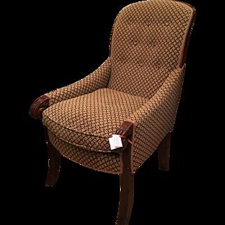 Superb Antique Mahogany Willian IV Bergere Arm Chair