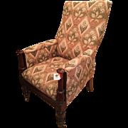 Antique Mahogany William IV Bergere Arm Chair