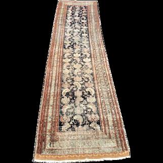 "Antique Handmade Persian Rug Runner 39"" by 156"""