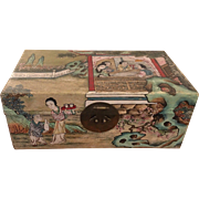 Vintage Hand Painted Chinese Box