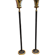 Pair of Art Deco Modernist Floor Lamps