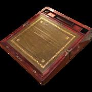 Antique Campaign Chest Lap Desk Box