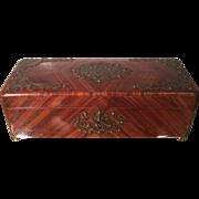 Antique Kingswood Jewelry Box w Bronze Details
