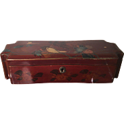 Antique Japanese Lacquer Jewelry Box - Signed