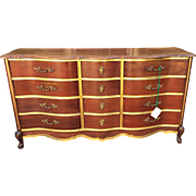 Superb Antique Walnut & Gilt-wood Buffet or Chest of Drawers by Bassett