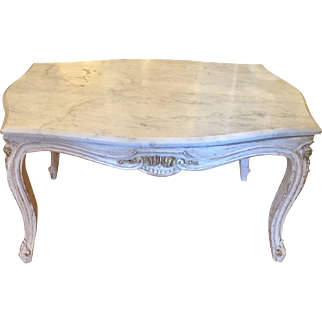 Superb Antique Louis XV Style Marble Top End or Cocktail Table