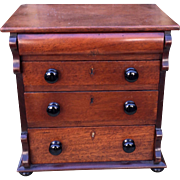 Antique 19C Miniature Commode Chest of Drawers - Salesman's Sample