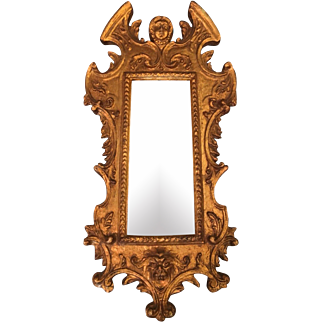 Vintage Borghese Gold Decorated Designer Mirror