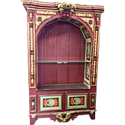 Superb Antique Italian Venetian Giltwood Bookcase