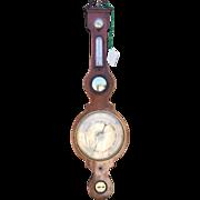 Antique English Regency Period Banjo Barometer by Dobel