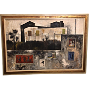 Original Italian Modernist Oil Painting by Gaetano D'Amico