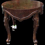 Superb Italian Oyster Burl Wood Designer Side or End Table w Apron