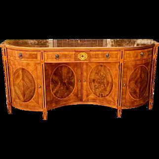 John Widdicomb Georgian Style Mahogany Inlaid Sideboard Buffet