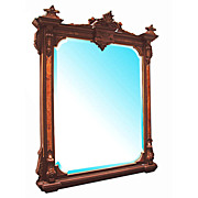 0334 American Renaissance Revival Wall/Over Mantle Mirror c. 1875