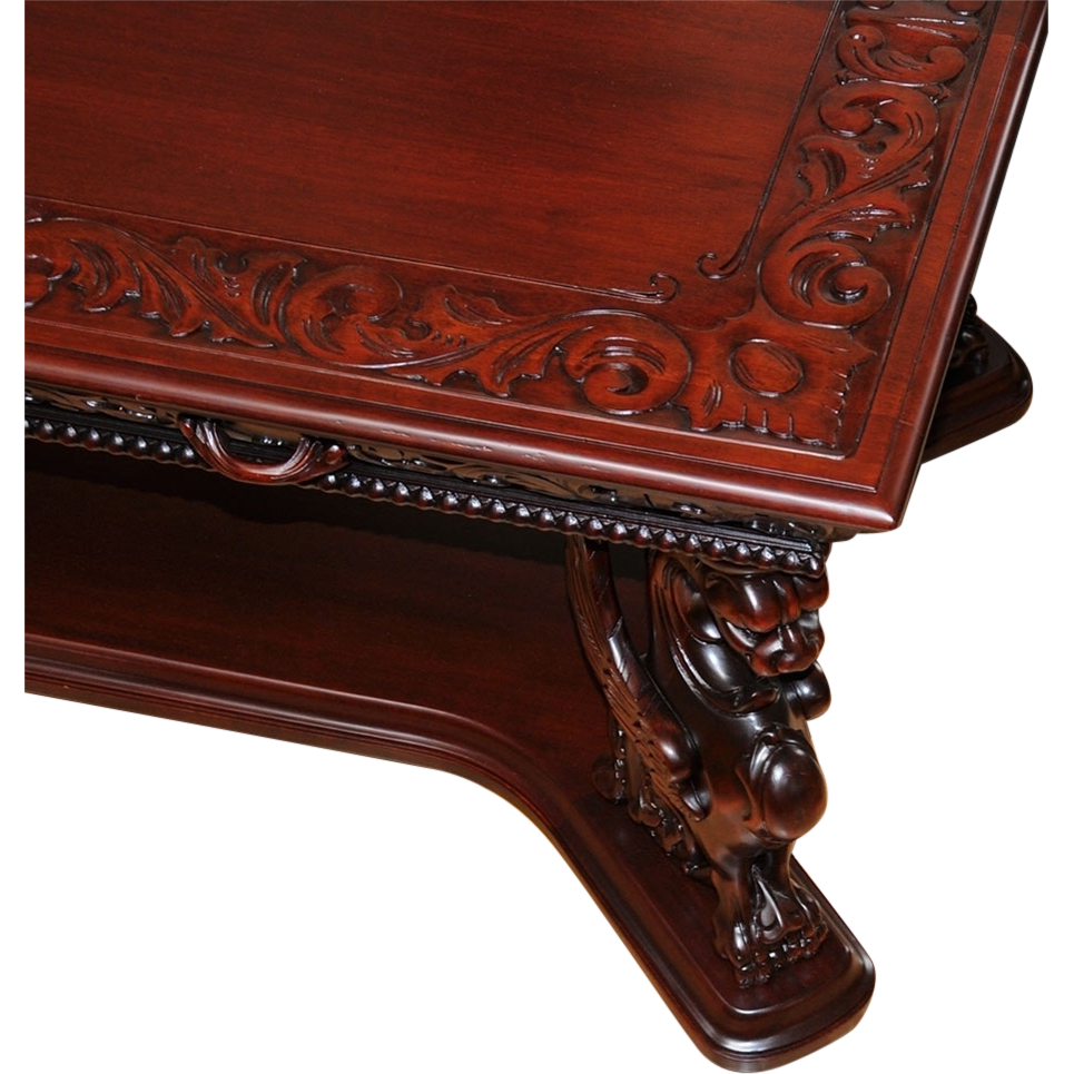 1059 English Sheraton Style Mahogany Library Table with Leather Top